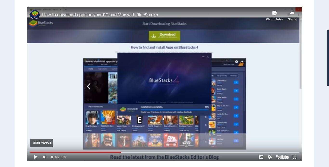 bluestacks for windows 7 pc